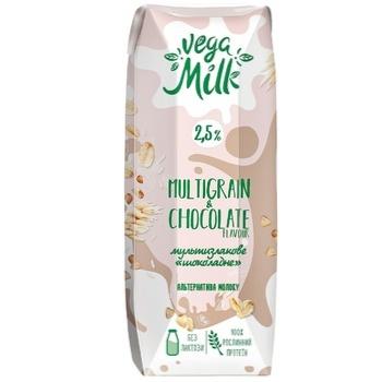 Напиток мультизлаковый Vega Milk с какао ультрапастеризованный 2,5% 250мл