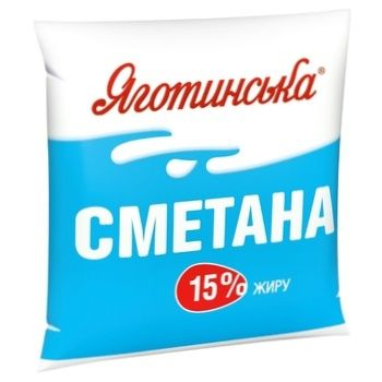 Yagotynska Sour Cream 15% 400g