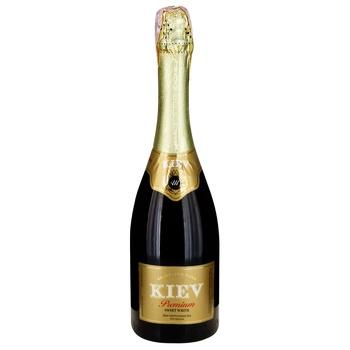 Вино игристое KIEV Premium белое сладкое 10-13% 0,75л - купить, цены на Фуршет - фото 1