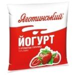 Йогурт Яготинський 1,5% полуниця 400г