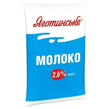 Молоко Яготинское коровье питьевое пастеризованное 2.6%  900г - купить, цены на Фуршет - фото 1