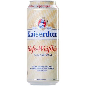Пиво Kaiserdom Hefe-Weisbier светлое нефильтрованное 4,7% 0,5л