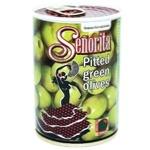 Оливки Senorita зеленые без косточки 280г