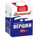 Yagotynske Ultrapasteriuzed Cream 15% 500g