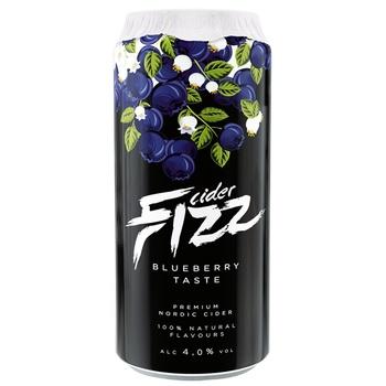 Сидр Fizz Bluberry 4.7%  0,5л