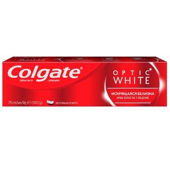 Зубна паста Colgate Optic White Іскриста білизна відбілююча 75мл - купити, ціни на ЕКО Маркет - фото 6