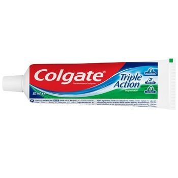 Colgate Triple Action Toothpaste 50ml - buy, prices for Auchan - photo 5