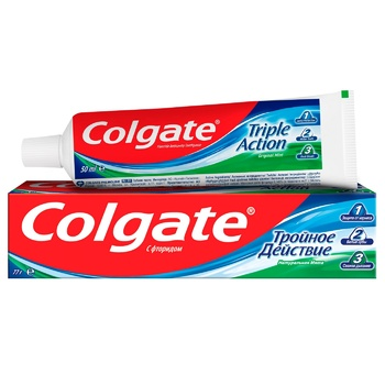 Colgate Triple Action Toothpaste 50ml - buy, prices for Auchan - photo 1