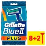 Gillette Blue II Plus Disposable Razors 8pcs+2