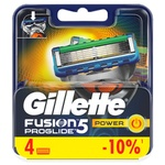 Картриджи для бритья Gillette Fusion ProGlide Power сменные 4шт