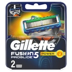 Картриджи для бритья Gillette Fusion ProGlide Power сменные 2шт