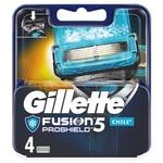 Кассеты для бритья Gillette Fusion ProShield Chill сменные 4шт