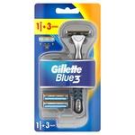 Gillette Blue3 with 3 Replaceable Cartridges Razor