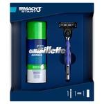 Gillette Gift Set Mach3 Start Razor + Sensitive Shaving Foam 100ml