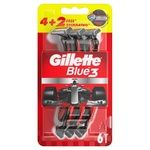 Бритвы Gillette Blue3 Nitro одноразовые 4 + 2шт