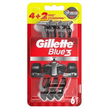 Бритвы Gillette Blue3 Nitro одноразовые 4 + 2шт