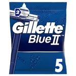 Gillette Blue II Disposable Razors 5pcs