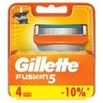 Картриджи для бритья Gillette Fusion сменные 4шт