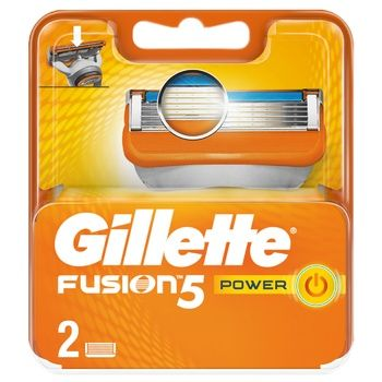 Картриджи для бритья Gillette Fusion Power сменные 2шт