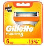 Картриджи для бритья Gillette Fusion5 сменные 6шт