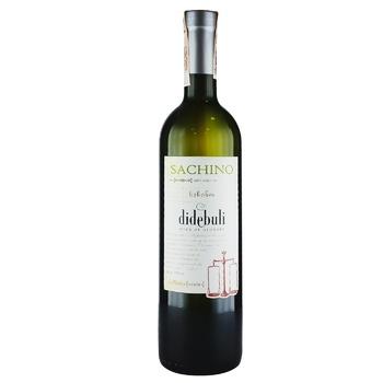 Вино Didebuli Sachino белое полусухое 11% 0,75л
