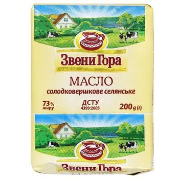 Масло Звени Гора крестьянское сладкосливочное 73% 200г
