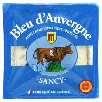 Bleu d'Auvergne Sancy м'який з голубою пліснявою 50% 125г