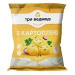 Вареники Три Ведмеді з картоплею 400г - купити, ціни на ЕКО Маркет - фото 1