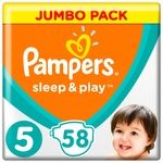 Pampers Sleep & Play Size 5 Junior Baby Diapers 11-16kg 58pcs