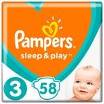 Подгузники Pampers Sleep & Play размер 3 Midi 6-10кг 58шт