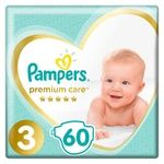 Pampers Premium Care Size 3 Midi Diapers 6-10kg 60pcs