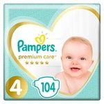 Подгузники Pampers Premium Care размер 4 9-14кг 104шт