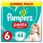 Підгузки-трусики Pampers Pants розмір 6 Extra Large 15+кг 44шт