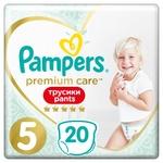 Подгузники-трусики Pampers Premium Care Pants размер 5 Junior 12-17кг 20шт