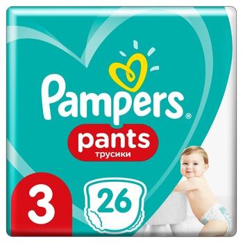 Подгузники-трусики Pampers Pants размер 3 Midi 6-11кг 26шт