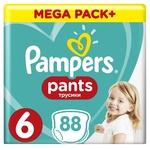 Подгузники-трусики Pampers Pants размер 6 Extra Large 15+кг 88шт