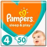 Подгузники Pampers Sleep & Play размер 4 Maxi 9-14кг 50шт