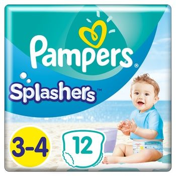 Трусики для плавания Pampers Splashers размер 3-4 Midi 6-11кг 12шт