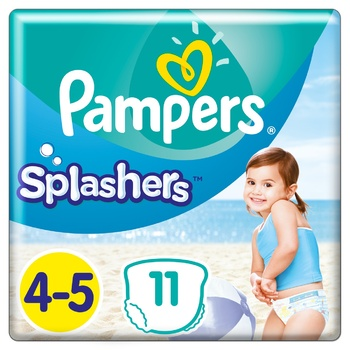 Трусики для плавания Pampers Splashers размер 4-5 Maxi 9-15кг 11шт