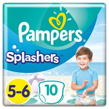 Pampers Splashers Pants Diaper for Swimming Size 5-6 Maxi 12-17kg 10pcs