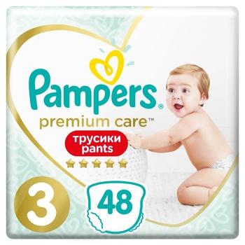 Подгузники-трусики Pampers Premium Care Pants размер 3 Midi 6-11кг 48шт
