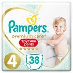 Подгузники-трусики Pampers Premium Care Pants размер 4 Maxi 9-15кг 38шт