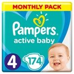 Пiдгузки Pampers Active Baby розмір 4 Maxi 9-14кг 174шт
