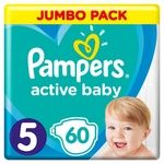 Подгузники Pampers Active Baby размер5 Junior 11-16кг 60шт
