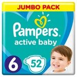 Подгузники Pampers Active Baby размер 6 Extra Large 13-18кг 52шт