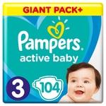 Подгузники Pampers Active Baby размер 3 6-10кг 104шт