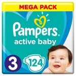 Подгузники Pampers Active Baby размер 3 6-10кг 124шт