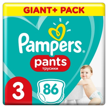 Подгузники-трусики Pampers Pants размер 3 Midi 6-11кг 86шт