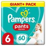Подгузники-трусики Pampers Pants размер 6 Extra Large 15+кг 60шт