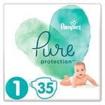 Підгузки Pampers Pure Protection Newborn 2-5кг 35шт